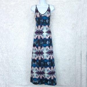 Grab Industries | Tropical Print Maxi Dress Size 8